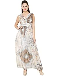 AIDA Women s Georgette Printed Party Ball Gown 322309ad4