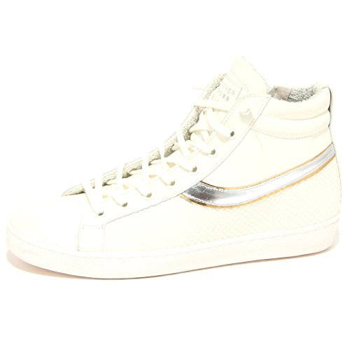 7738N sneaker LEATHER CROWN bianco scarpe donna shoes women [40]
