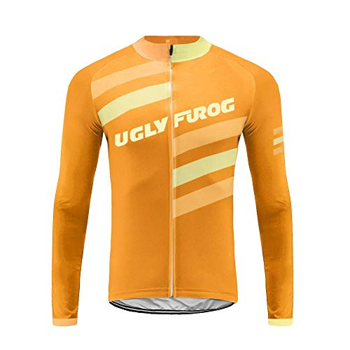 Uglyfrog Cycling Jerseys de Ciclo de la Manga Larga Respirable del Mens Que completan un Ciclo Las Tapas de la Bicicleta de Las Camisas para la Bici, el Motorista, la Bicicleta FAXMIX-201907