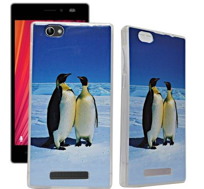 ECellStreet Exclusive Transparent Printed Soft Back Case Cover Back Cover For Lava X17 - Penguin