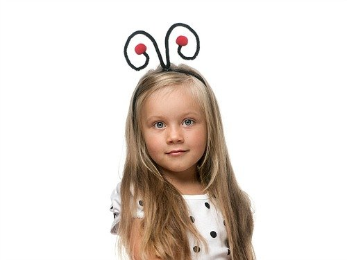 Haarreifen Marienkäfer- Kostüm (Kostüm Einfach Marienkäfer)