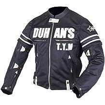 TEONGS Hombres de Malla Transpirable Racing Protective Gear Protector extraíble Retro Summer Moto Jacket Riding Ropa