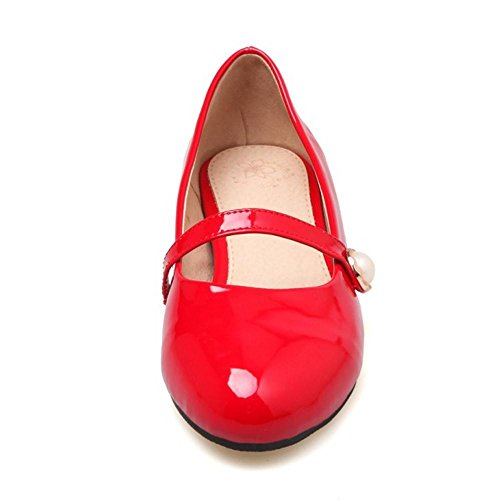 Coolcept Femmes Mode Mary Jane Plates Escarpins red