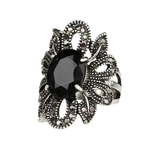 Frauen Vintage Ring durchbrochenen Blumen Diamanten Harz Schmuck YunYoud echtschmuck edelsteinringe set armspange dünn edelstein modering ohrringe diamant zirkonia stahlring