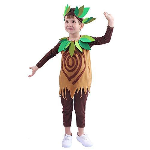 QYS Kinder süße Baum Kostüm Zubehör Kleinkinder Baum Kostüm mit Kopfbedeckung 3~14 Jahre,8~10y (Baum Kopfbedeckung Kostüm)