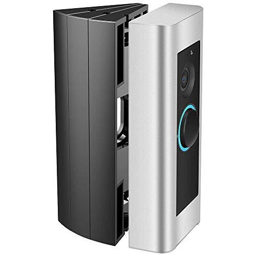 Adjustable Ring Doorbell Pro Angle Mount (3 Packs), CAVN Video Doorbell Corner Kit Angle Adjustment Adapter Mounting Plate Bracket Wedge Kit for Ring Doorbell Pro, Black