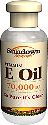 Sundown Naturals Pure Vitamin E Oil 70,000 Iu, 2.5 Oz by Sundown