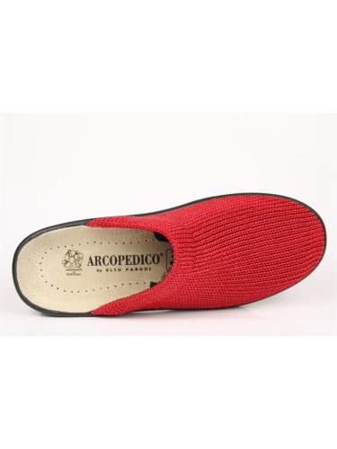ARCOPEDICO, LIGHT 1001, SABOT, cotone, ROSSO Rosso