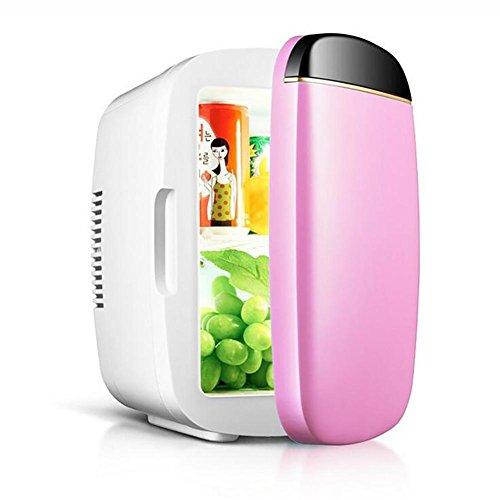 HuanLeBao Auto Elektrische Kühlbox Thermobox Mini-Kühlschrank 6L zum Kühlen und Warmhalten geeignet , Pink