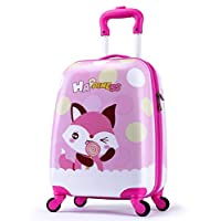 LeLeTian Kids Luggage Hardshell Lightweight Adjustable Handle Rolling Carry On Suitcase for Age 2+