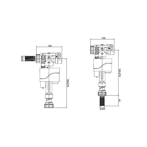 Schwimmerventil Compact Dual