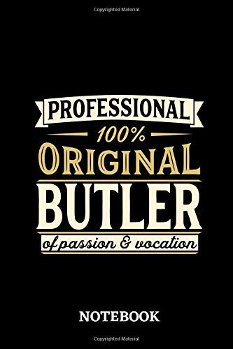 Professional Original Butler Notebook of Passion and Vocation County Server