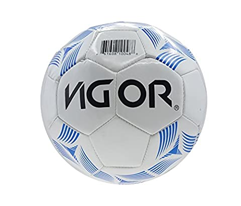 Mozlly Soccer Ball White With Blue High End Colors Design Official Size 5 Sports Equipment - Item #108007