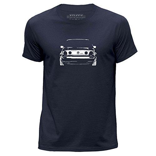 stuff4-hommes-x-grande-xl-bleu-marin-col-rond-t-shirt-stencil-art-de-voiture-vw-gti-mk2