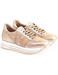 ALVIERO Martini 1°Classe Geo Crossing Z P941 100B Sneakers Scarpe Donna  Platform Oro 486e120c5dc