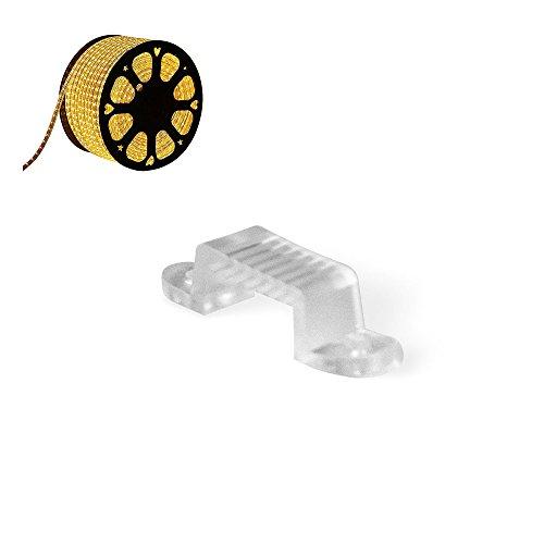 CLE Befestigungs Clips für LED Stripe Schlauch 50m 230V 5050 LEDs weiß inkl Eurostecker
