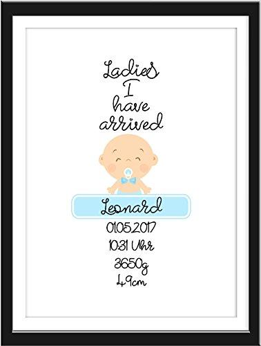 Lady-bild (Personalisierte Geschenke Baby Geburt Wand-Bild LADIES I HAVE ARRIVED)