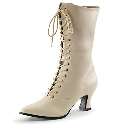 Higher-Heels Funtasma Renaissance-Stiefel Victorian-120 Creme Gr. 38