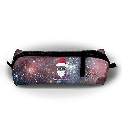 Weihnachtsmann Mit Sonnenbrille Stift Bleistift Tasche Box Organizer Halter Für Schulbüro 5,5x5x21 cm