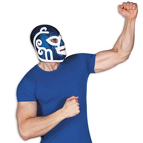 NET TOYS Máscara Lucha Libre | Azul-Blanco | Extravagante