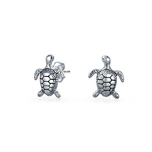 waiian Meer Strand Schildkröte Schildkröte Ohrstecker Für Damen Für Jugendlich 925 Sterling Silber ()