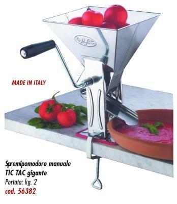 SPREMIPOMODORO MANUALE TIC TAC GIGANTE INOX KG.2