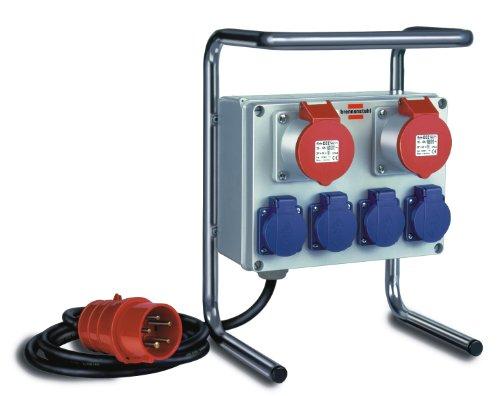 Brennenstuhl Kompakter Kleinstromverteiler BKV 2/4 G IP44 Baustelleneinsatz und Outdoor, 1153750