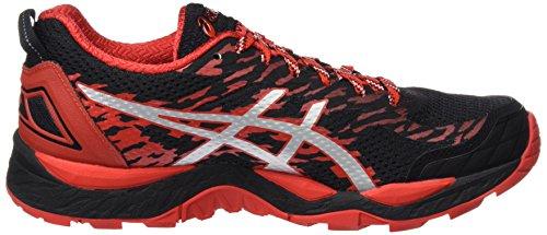 Asics Gel-Fujitrabuco 5, Scarpe da Trail Running Uomo Multicolore (Black / Vermilion / Silver)