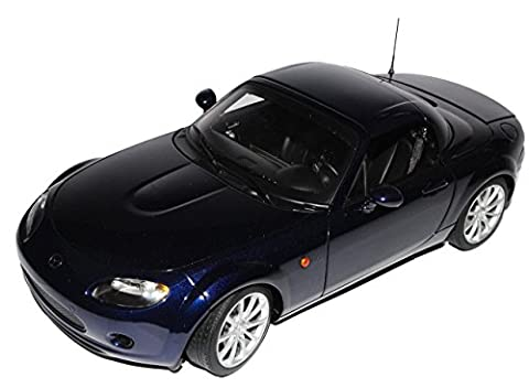 Mazda MX-5 NC Roadster Stormy Blau Schwarz Linkslenker mit öffnendem Dach 2005-2015 75974 1/18 AutoArt Modell Auto mit individiuellem (Modellauto Mazda Mx 5)