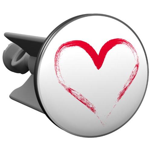 Plopp bonde Coeur, pour lavabo, bonde, bonde Excenter, déversoir