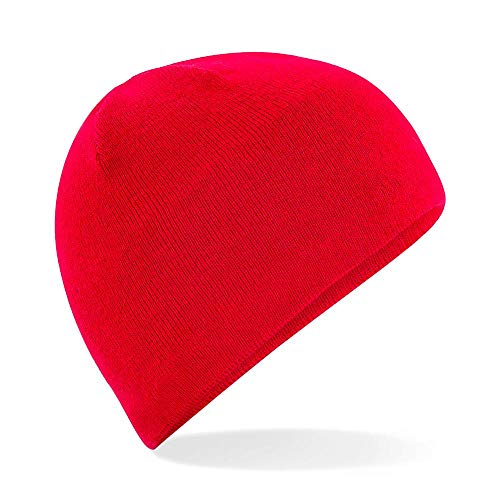 Red Classic Beanie (Beechfield - Active Performance Beanie / Classic Red, Einheitsgröße)