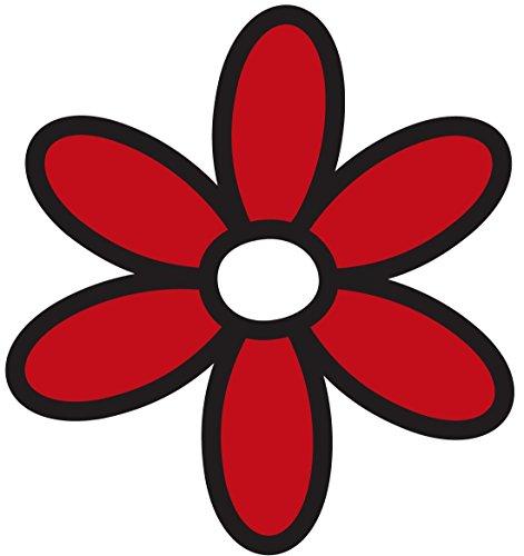 Artimagen Sticker rote Margarita groß 90x 103mm Große Margarita