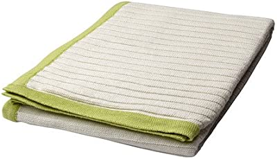 IKEA BARNKAR - Manta, blanco, verde - 110x125 cm