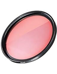 Mantona Filter rot 52 mm (Farbkorrektur in blauem Wasser, geeignet für GoPro Hero 3+/GoPro Hero 4) rot
