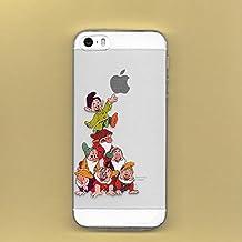 Carcasa flexible diseño de los Siete Enanitos de Disney para Apple iPhone 5, 5S, 5SE, 5C, 6, 6S, plástico, SAVEN DWARFS, APPLE IPHONE 6.s