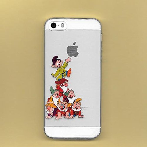 Epician New Disney Seven Dwarfs Clear TPU Soft Case For Apple iPhone 7 Plus HAPPY SEVEN DAWRF