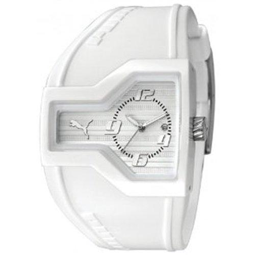 Puma - PU910641003 - Montre Mixte - Quartz Analogique - Cadran Blanc - Bracelet Caoutchouc Blanc