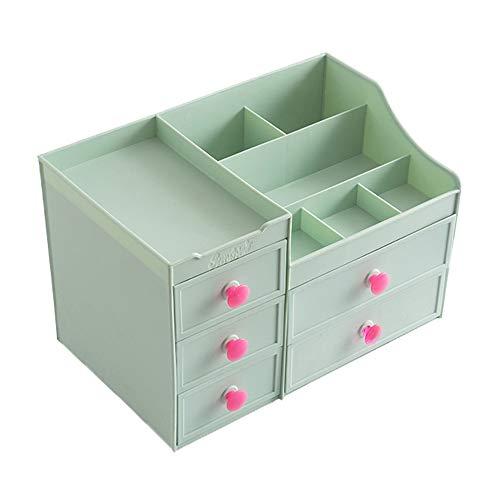 Kunststoff Aufbewahrungsbox Einfache Schminktisch Finishing Rack mit 5 Schubladen Kosmetikbox für Kommode, Schlafzimmer, Badezimmer, 13,9