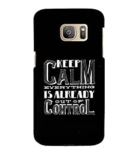 Fuson Designer Back Case Cover for Samsung Galaxy S7 :: Samsung Galaxy S7 Duos :: Samsung Galaxy S7 G930F G930 G930Fd (Keep Clam Everything Theme)