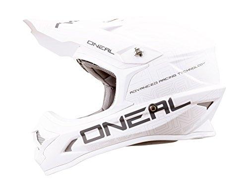 O'Neal 3Series MX Helm Flat Weiß Motocross Enduro Quad Offroad Cross ABS, 0623-05, Größe M (57/58 cm)