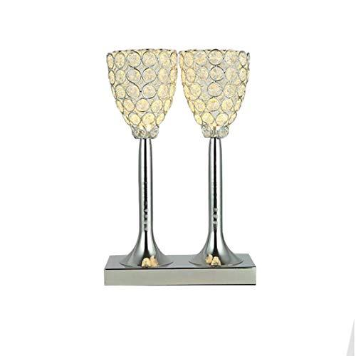 YJFFAN LED Tischlampe Kreative K9 Kristall Kunst Beleuchtung Einfachheit Moderne Kreative Weinglas...