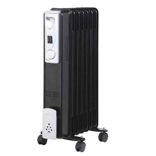 41vueZi3JqL. SS500  - Kingavon BB-OR110 7-Fin 1.5kW Slimline Oil Filled Radiator - Black