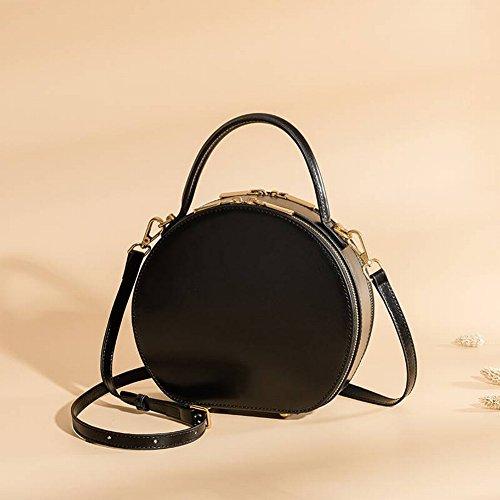 Handtaschen aus Leder Umhängetasche Frauen Ledertasche Mode Handtaschen Kleine Runde Tasche Damen...