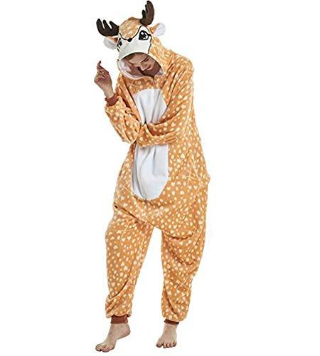 XIAOKEAI Paar Tier Pyjamas, Erwachsene Unisex Pyjamas Cosplay Kostüm Comic Homewear Tägliche Nachtwäsche (Paar Onesies Für Erwachsene)