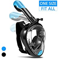 Supertrip Snorkel Mask Full Face For Adults And Youth,180°Panoramic View Foldable Snorkeling Mask With Detachable Camera Mount Dry Top Set Anti-Fog Anti-Leak