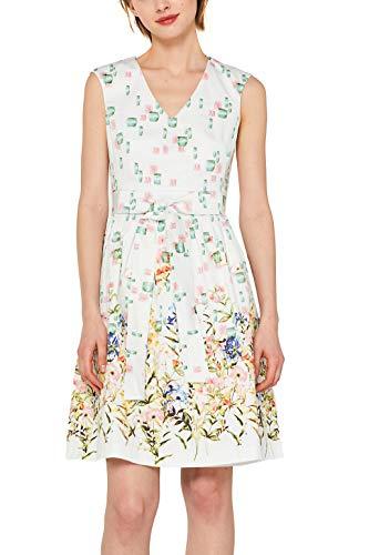 ESPRIT Collection Cocktail-Kleid aus Satin-Stretch mit Print Satin Cocktail Kleid