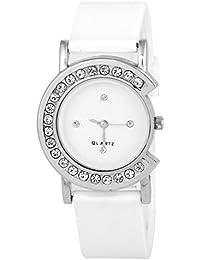 Swadesi Stuff New Arrival C Diamond White Stylish Analog Watch - For Girls & Women
