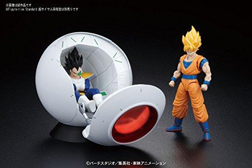 Bandai Hobby- Saiyan Space Pod Model Kit Replica 25 cm Dragon Ball Z Figure-Rise Mechanics 83330P, Multicolor… 4