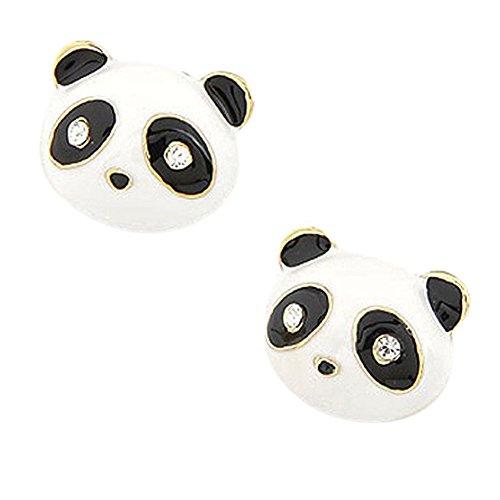 Hosaire 1 Paar Ohrringe Form von Panda Süßer hund Kawaii Ohren Durchbrüche Schmuck Geschenke Der Liebe (Preise Panda Hund)