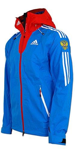 adidas Damen Goretex Regen Jacke Team Russia (36, blau-rot)